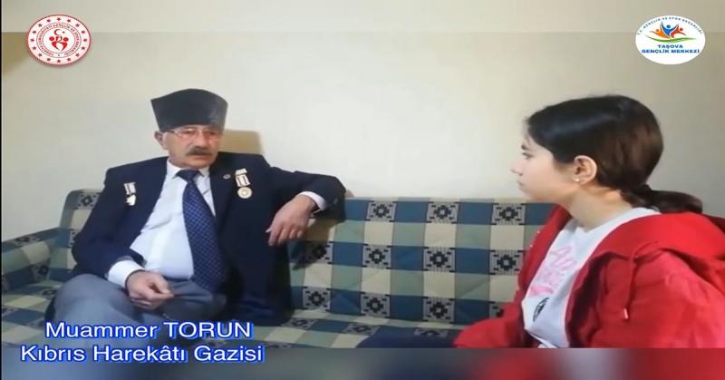 'Ne Mazi Ne Ati' Projesinin İlk Konuğu Kıbrıs Gazisi Muammer Torun Oldu