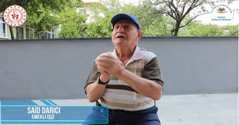 'Ne Mazi Ne Ati' Projesinin 12. Konuğu İşçi Emeklisi Said Darıcı Oldu