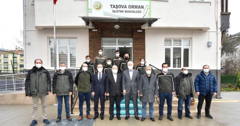OGM Genel Müdür Yardımcısı ve Teftiş Kurulu Başkanı, Taşova Orman İşletme Müdürlüğünü Ziyaret Etti