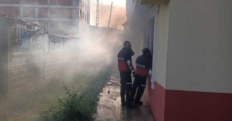 Ortak Kullanım Alanında Çıkan Yangın Panik Yarattı