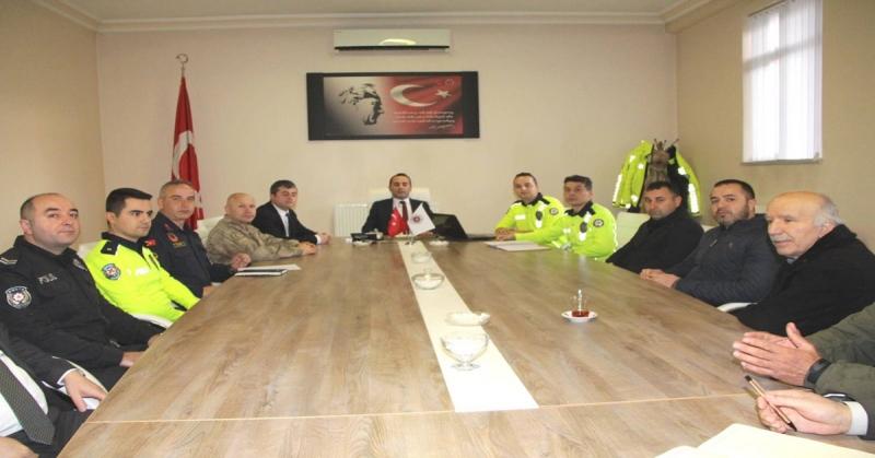 Otobüs Kazalarının Önlenmesine Yönelik Toplantı Yapıldı