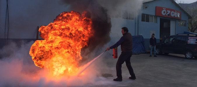 Özgür Mobilyada Yangın Tatbikatı