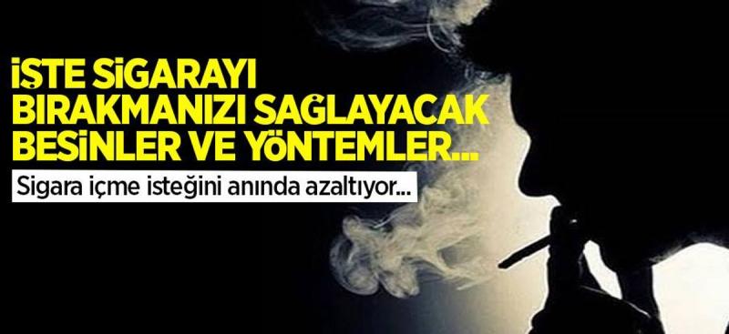 Sigara İstediğini Anında Azaltıyor! İşte Sigarayı Bırakmanızı Sağlayacak Besinler ve Yöntemler