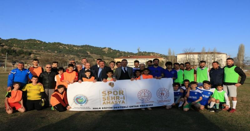 Spor Şehri Amasya Projesi Kapsamında Taşova'ya Ziyaret