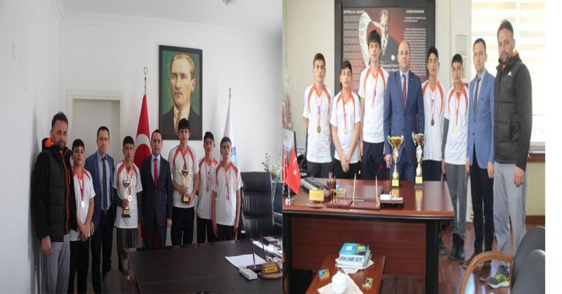 Sporcular'ndan Kaymakam Çelik ve Milli Eğitim Müdürü Tümer'e Ziyaret