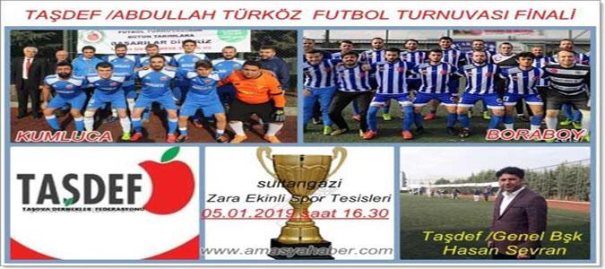 TAŞDEF 'Abdullah Türköz Futbol Turnuvamız Finaline Davetlisiniz'