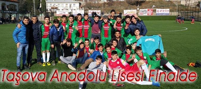 Taşova Anadolu Lisesi Final Müsabakası Çarşamba Günü Oynayacak.