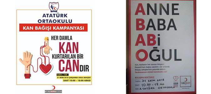Taşova Atatürk Ortaokulundan kan bağışı kampanyası