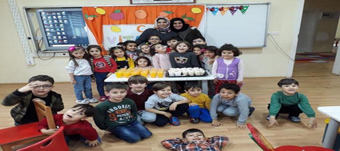 Taşova Atatürk Ortaokulu Anasınıfı Öğrencileri'nden C Vitamini Etkinliği