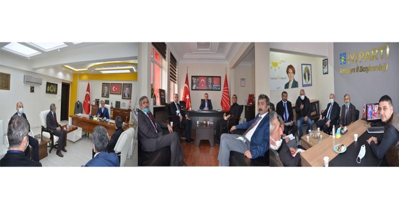 Taşova Çevre Platformu Amasya'da DSİ ve Siyasi Partileri Ziyaret Etti