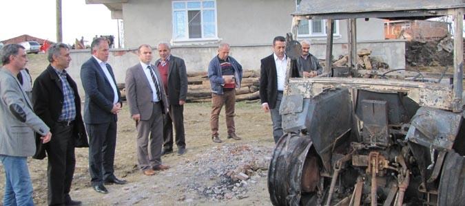 Taşova CHP İlçe Yönetiminden 5 evin Yandığı Kavaloğlu Köyüne Ziyaret