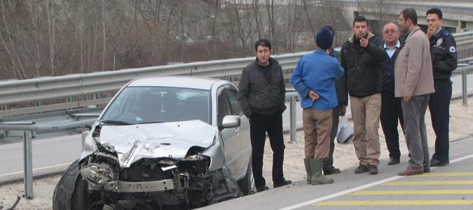 Taşova'da trafik kazası