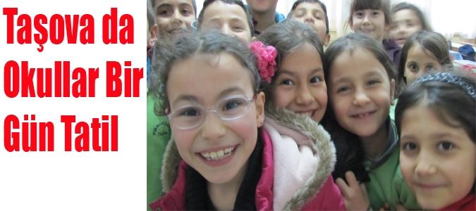 Taşova da Okullar Bir Gün Tatil