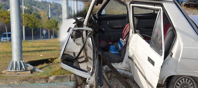 Taşova da Trafik Kazası 1Kişi Hayatını Kaybetti..