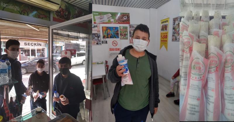 Taşova İYİ Parti'den Öğrencilere Çiğ Köfte İkramı