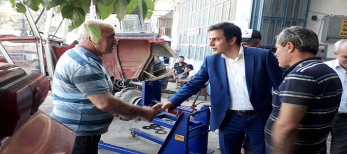 Taşova Kaymakamı Altuntaş Sanayi Esnafını Ziyaret Etti