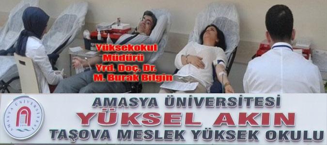 Taşova Meslek Yüksek Okulundan Kan Bağışı