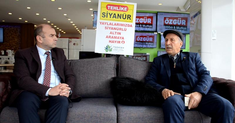Taşova Mübadiller Derneği Başkanı Garip'e Siyanürü Sorduk