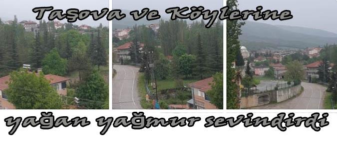 Taşova ve köylerine yağan yağmur sevindirdi