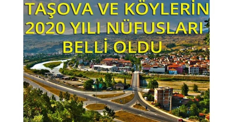 Taşova ve Köylerinin 2020 Yılı Nüfusu Belli Oldu