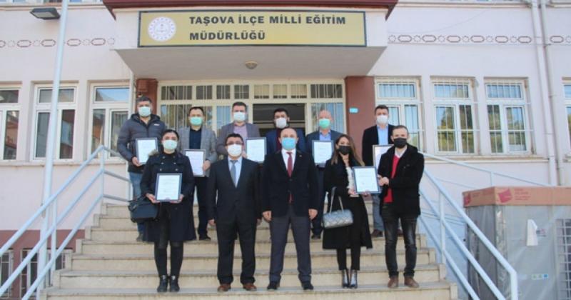 Taşova'da 10 Okul 'Okulumuz Temiz Sertifikası' Aldı