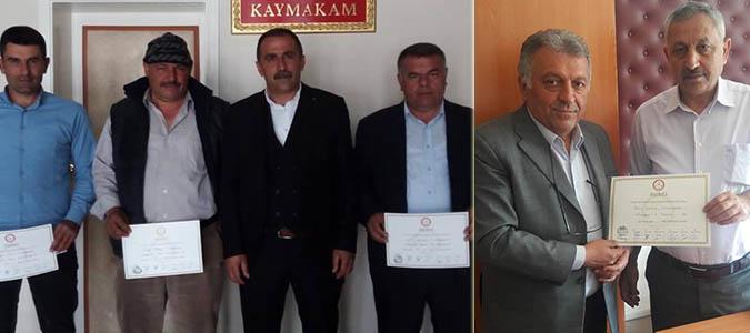 Taşova'da 62 Köy ve 7 Mahalle  Muhtarı mazbatasını aldı