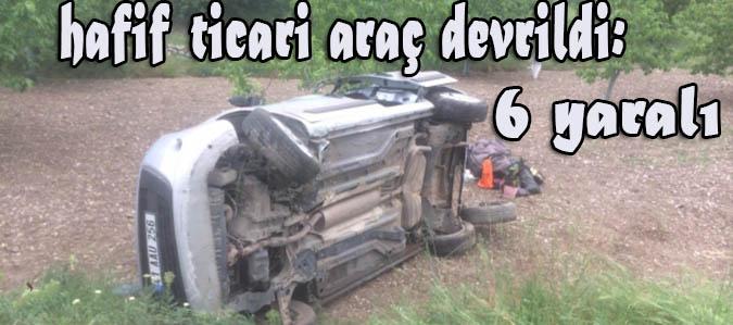 Taşova'da hafif ticari araç devrildi: 6 yaralı