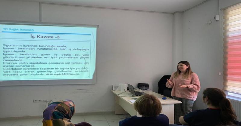 Taşova'da İş Sağlığı ve Güvenliği Eğitimi Düzenlendi