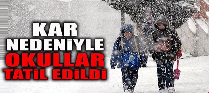 Taşova'da Okullar Kar ve Buzlanma Nedeniyle 1 Gün Tatil Edildi