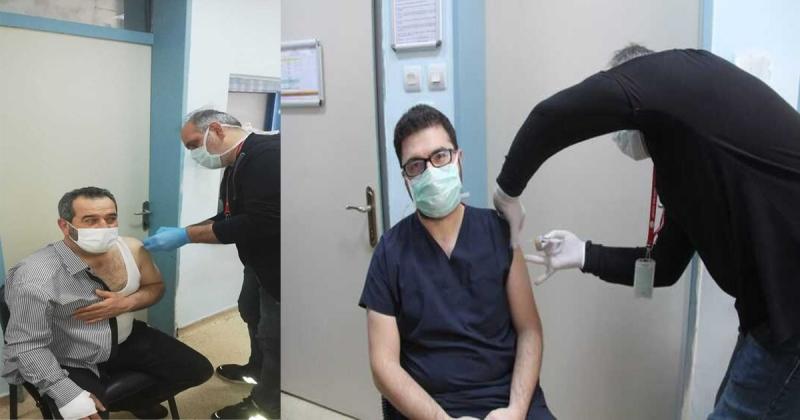 Taşova'da Sağlık Personeline Koronavirüs Aşıları Yapılmaya Başlandı