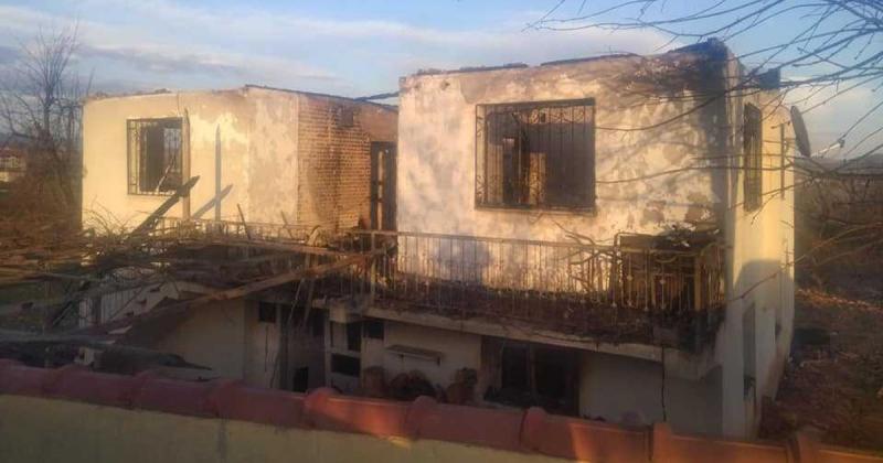 Tekke Köyünde Ev Yangını