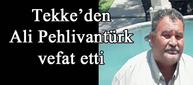 Tekke'den Ali Pehlivantürk vefat etti.