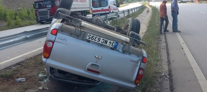 Trafik Kazası Sonuç'u 2kişi Yaralandı