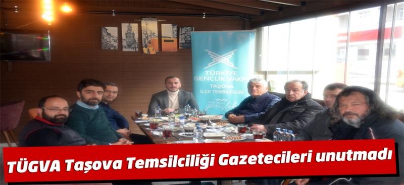 TÜGVA Taşova Temsilciliği Gazetecileri Unutmadı