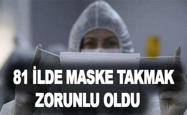 Tüm Türkiye'de Maske Takmak Zorunlu Oldu !