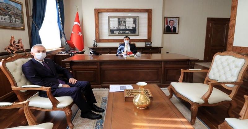 Vali Masatlı, Başkan Öztürk'ü Kabul Etti