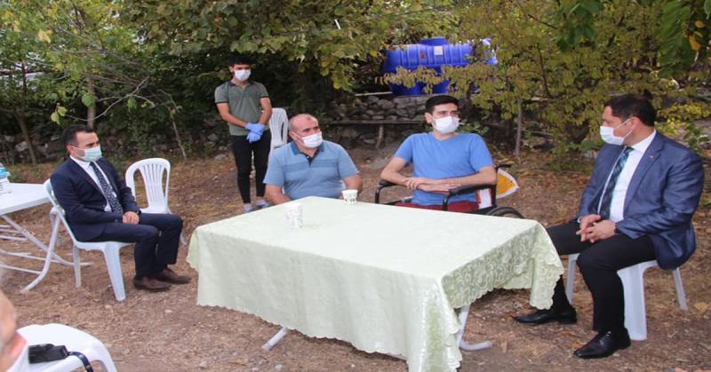 Vali Masatlı, Gazi Burak Can ÜNAY'ı Ziyaret Etti