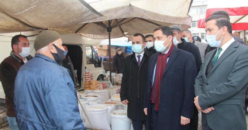 Vali Masatlı,Taşova Perşembe Pazarında Koronavirüs Denetimine Katıldı