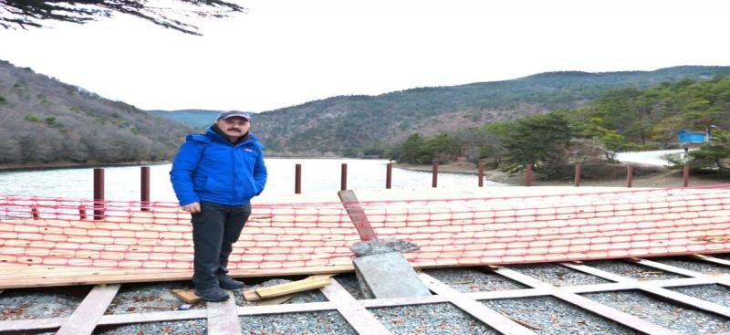 Vali Varol, Boraboy Gölü Rekreasyonel Gelişim Projesi Kapsamındaki Çalışmaları Yerinde İnceledi