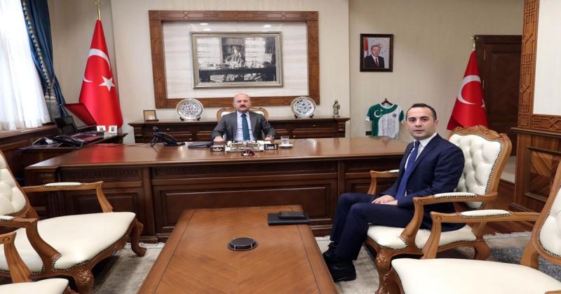 Vali Varol, Taşova Kaymakamı Mustafa Berk Çelik'i Kabul Etti