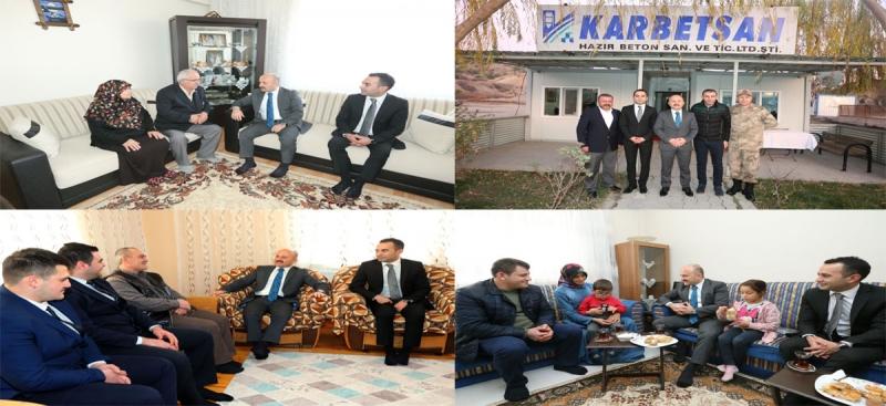Vali Varol Taşova'da Ziyaretlerde Bulundu