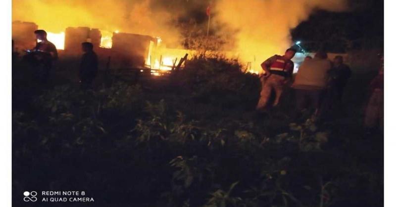 Yaylasaray'da Yangın