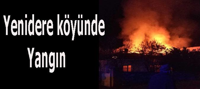 Yenidere köyünde Yangın