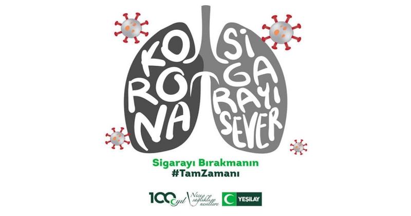 YEŞİLAY; 'Koronavirüs sigara içeni sever'