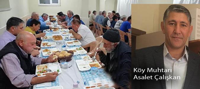 YÜZELLİ'YE YAKIN KÖY HALKI HEP BİRLİKTE  İFTAR AÇIYOR