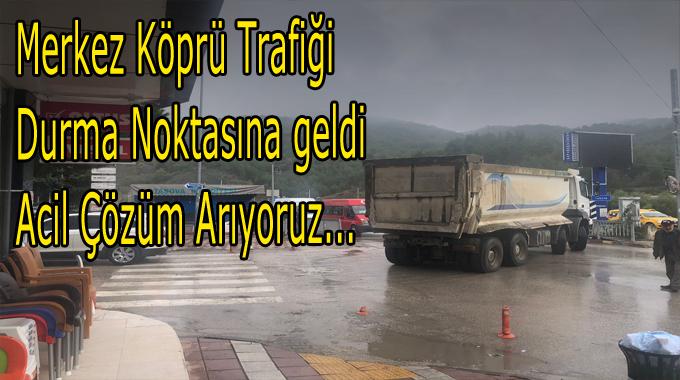 Sanayi Köprüsü Kapanınca Trafik ikiye Katlandı…