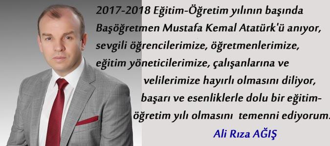 Ali Rıza AĞIŞ 2017-2018 Eğitim- Öğretim yılı kutlaması