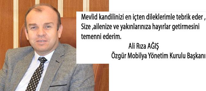 Ali Rıza AĞIŞ - Mevlid Kandili mesajı