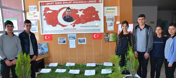 Anadolu Lisesinden Çanakkale köşesi.