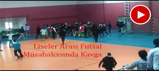FUTSAL KARŞILAŞMASINDA KAVGA
